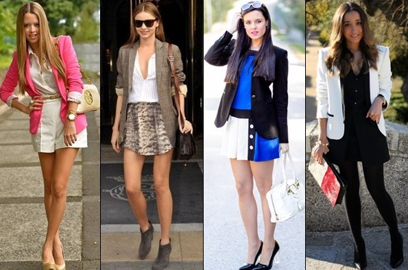 Wearing a blazer will always be trendy