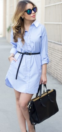 classic shirt dress with a belt